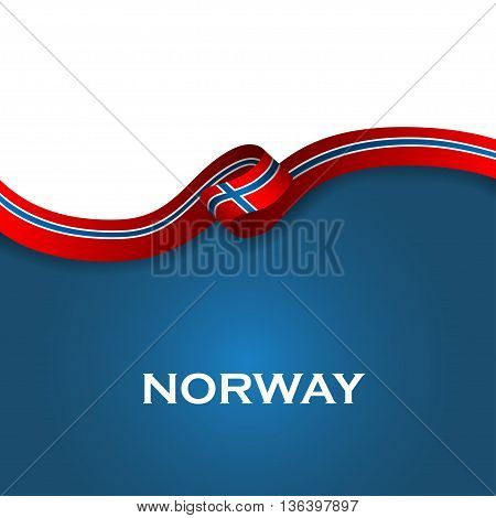 Norway Sport Style Flag Ribbon Classic Style. Vector Illustration