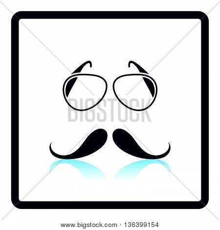 Glasses And Mustache Icon