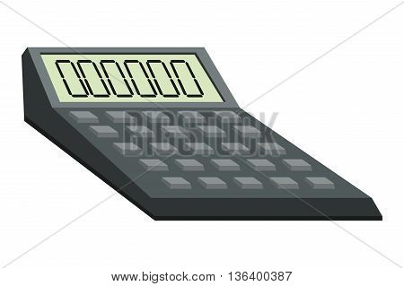 simple flat design big calculator icon vector illustration