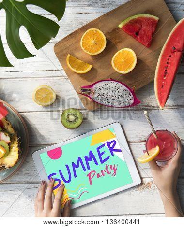 Summer Fruits Digital Tablet Concept