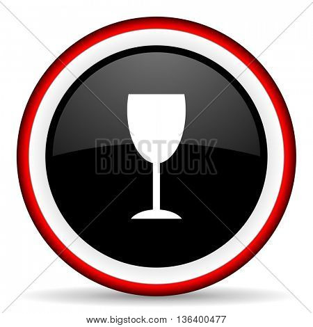 alcohol  round glossy icon, modern design web element