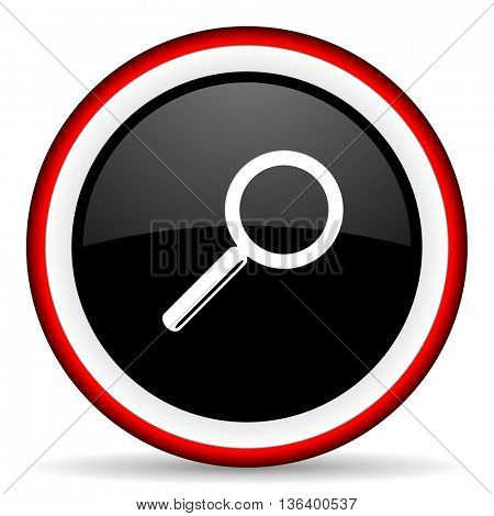 search round glossy icon, modern design web element