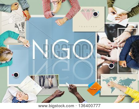 NGO Contribution Corporate Foundation Nonprofit Concept