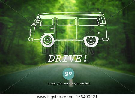 Drive Automobile Driver Driving Transport Trip Concept
