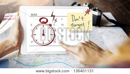 Time Stopwatch Urgent Planning Planner Concept