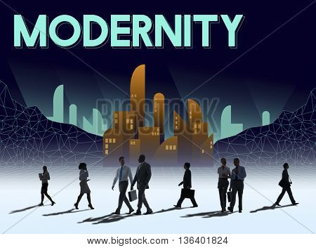 Modern Estate Modernity Skyscraper Building Concept