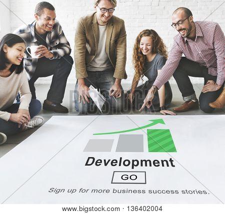 Development Management Business Solution Website Concept