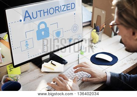 Login Accessible Password Authorized Permission Concept