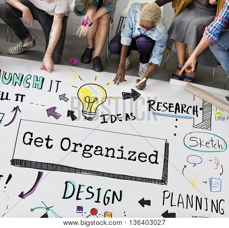 Organize Development Plan Process To-Do Concept