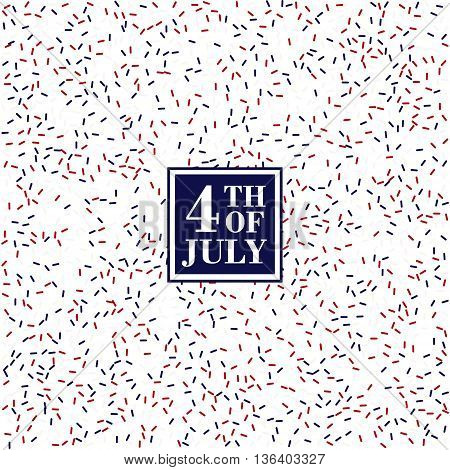 4th of July background. Independence Day conception in traditional American colors - red white blue confetti.