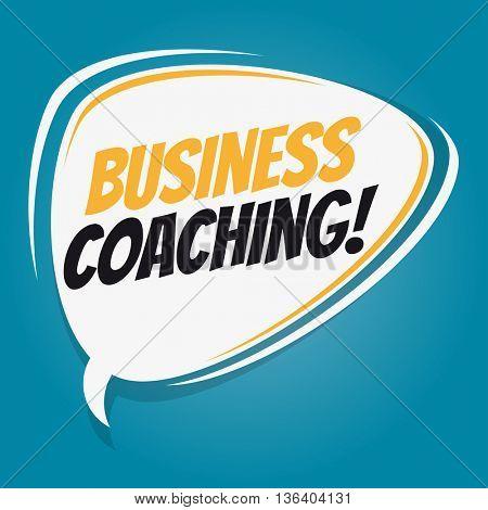 business coaching retro speech bubble