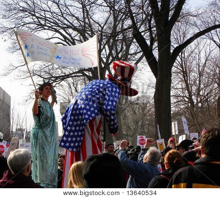 Uncle Sam & Lady Liberty