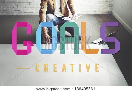 Goals Aim Motivative Target Vision Inspiration Concept