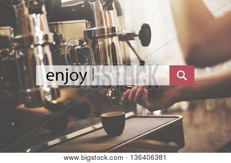 Enjoy Happiness Satisfaction Pleasurable Concept