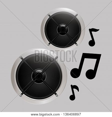 speaker concept with icon design, vector illustration 10 eps graphic.