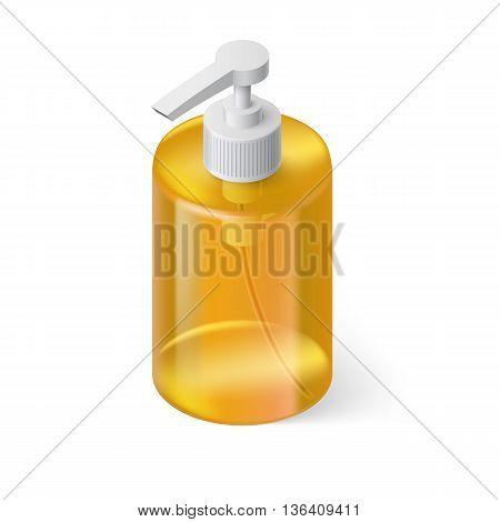 Transparent Bottle in Orange Color without Label
