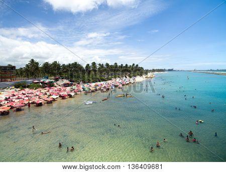 Muro Alto beach in Porto de Galinhas, Refice, Pernambuco, Brazil