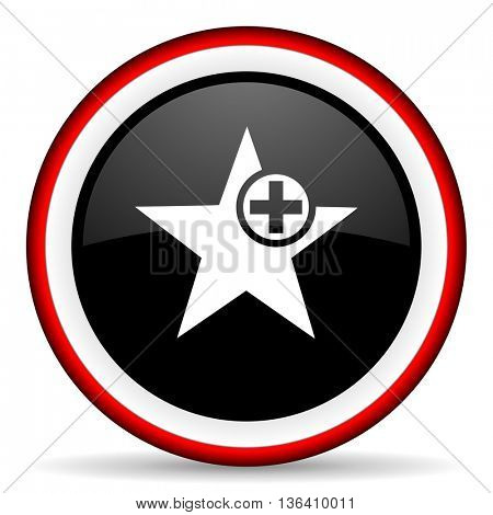 star round glossy icon, modern design web element