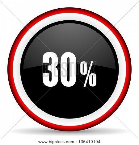 30 percent round glossy icon, modern design web element