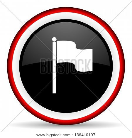 flag round glossy icon, modern design web element
