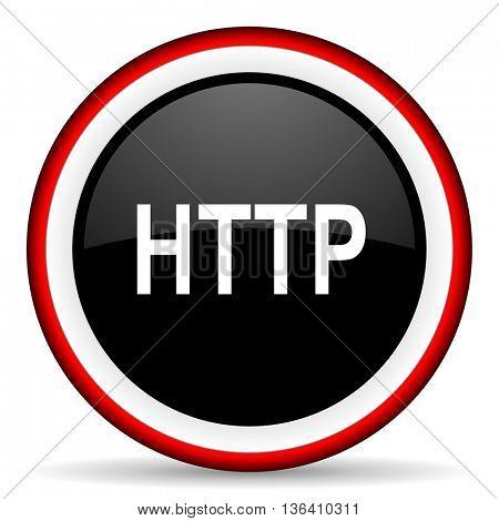http round glossy icon, modern design web element
