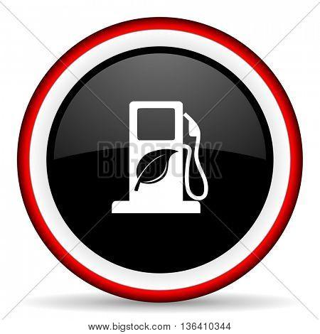 biofuel round glossy icon, modern design web element