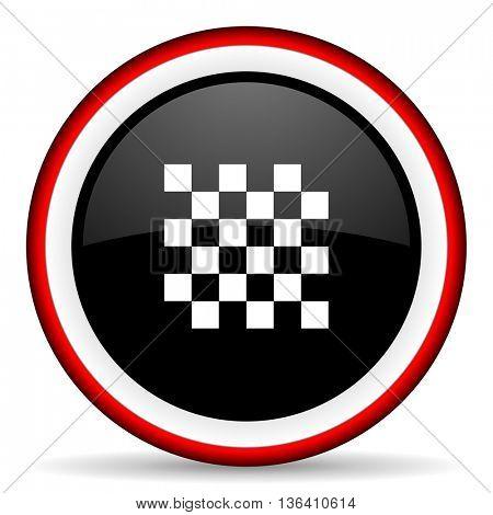 chess round glossy icon, modern design web element