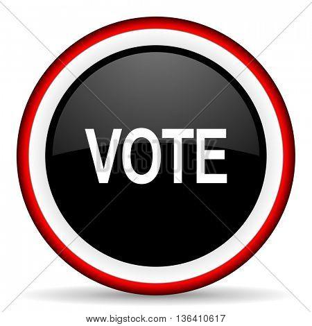 vote round glossy icon, modern design web element