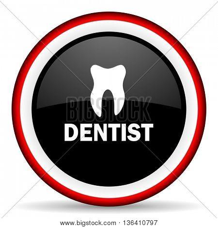 dentist round glossy icon, modern design web element