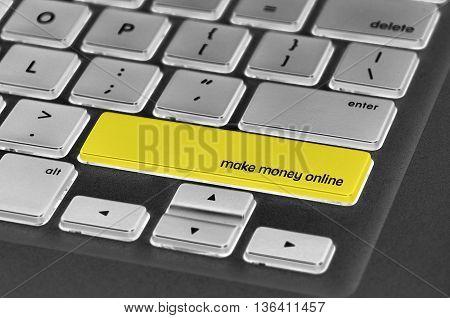 Keyboard  Button Written Word Make Money Online