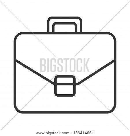 black and white suitcase over isolated background, business concept, vector illustration