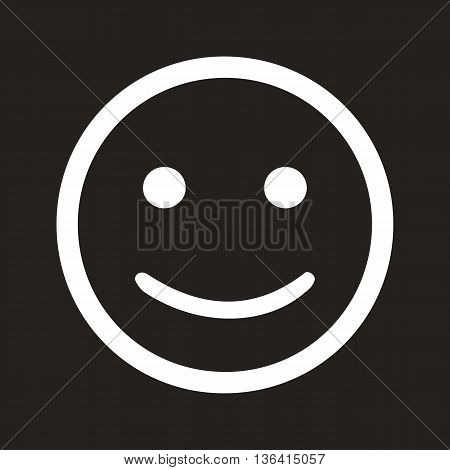Smiling face icon isolated on black background men women