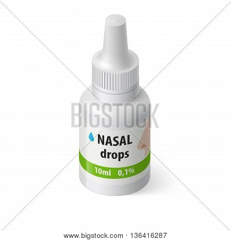 Illustration of Medical Bottle for Nasal Drops
