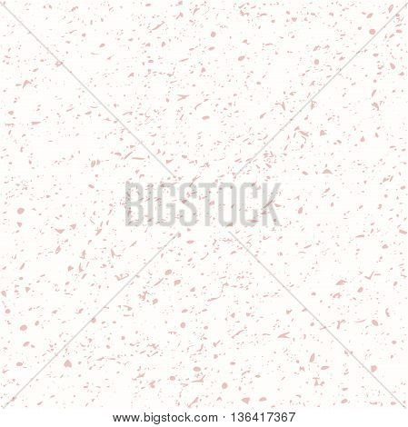 Geometric seamless vector background with ink splashes and stains. Abstract texture. Light pink pattern