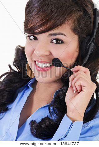 Female Call Center Representative
