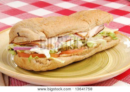 Sub Sandwich On A Plate