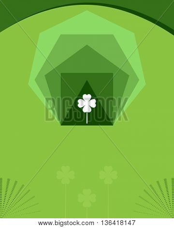 Saint Patrick's Day Background With Clover Vector Illustration