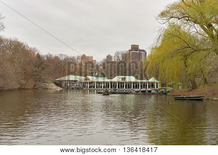 NEW YORK - CIRCA MARCH 2016: Central Park in March. Central Park is an urban park in middle-upper Manhattan, within New York City.