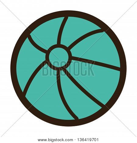 black and blue beach ball over isolated background, vector illustration