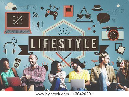 Lifestyle Hobbies Media Technology Concept