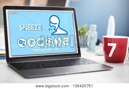 Sneeze Allergy Disorder Sickness Healthcare Concept