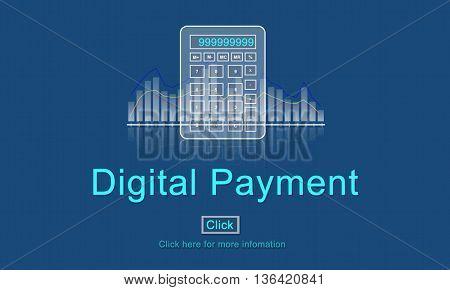Digital payment Consumerism Merchadiser Card Concept
