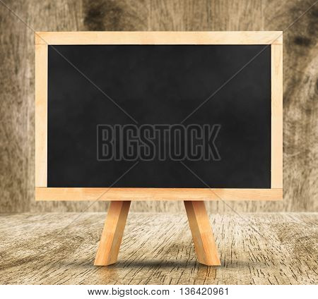 Blackboard With Easel In Studio Room,template For Your Content.