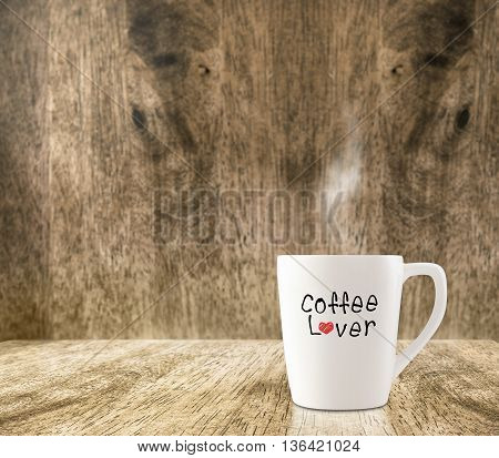 Hot White Coffee Cup With
