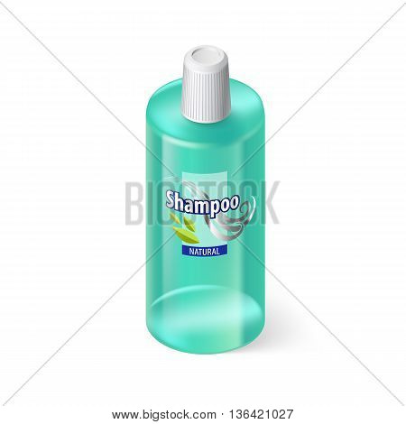 Single Aquamarin Bottle of Shampoo with Lable