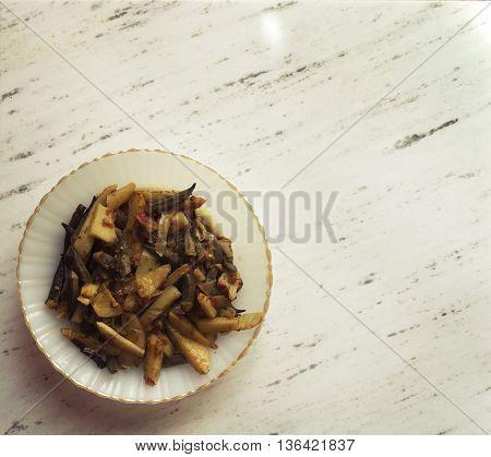 Okra Dish With Potatoes