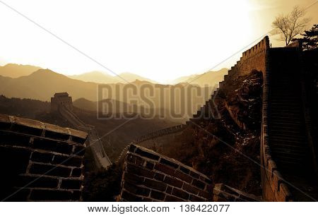 Ancient Chinese Great Wall Concept