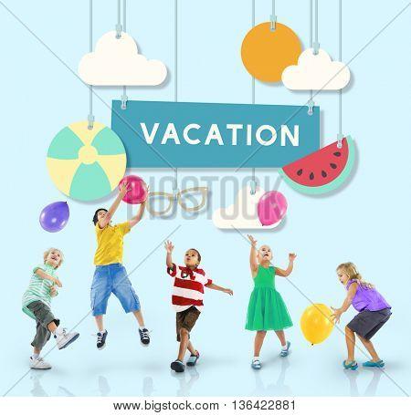 Beach Summer Time Vacation Sea & Sun Concept