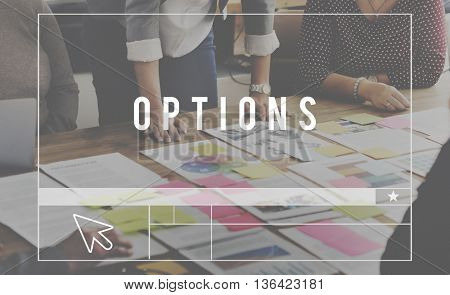 Options Selection Chance Choosing Pick Concept
