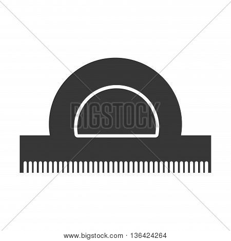 black school rule front view over isolated background, vector illustration